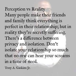 Perception versus reality