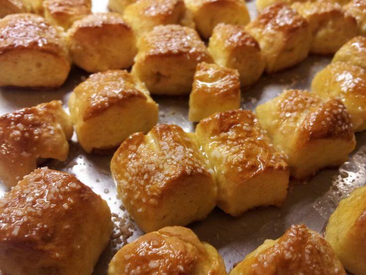 Homemade buttery soft pretzel nuggets