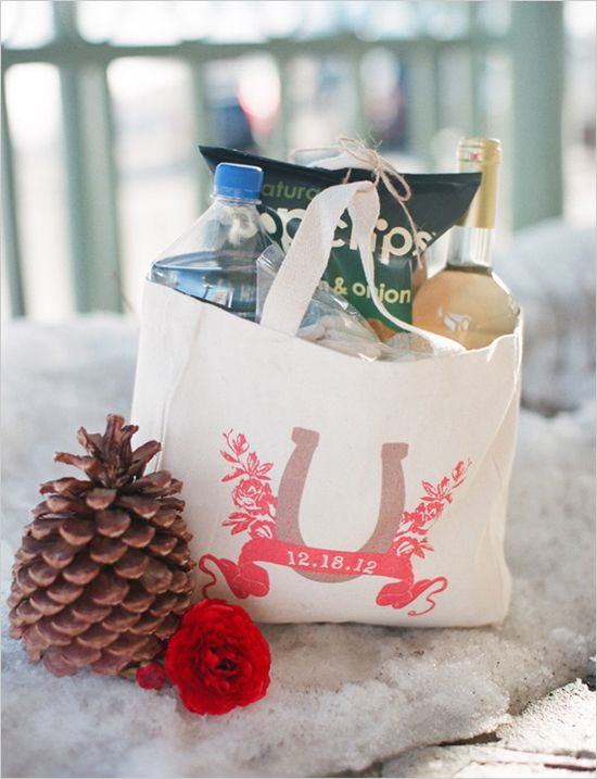 welcome gift bag, this is a good idea for location weddings. If your ...