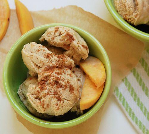 Cinnamon Peach Ice Cream 1 can coconut milk (16 ounce) 3 egg yolks 3 ...