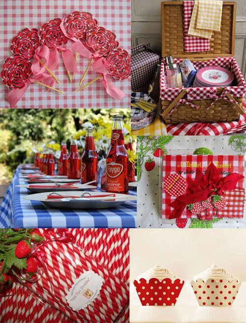 red gingham wedding decorations picnic anyone pinterest