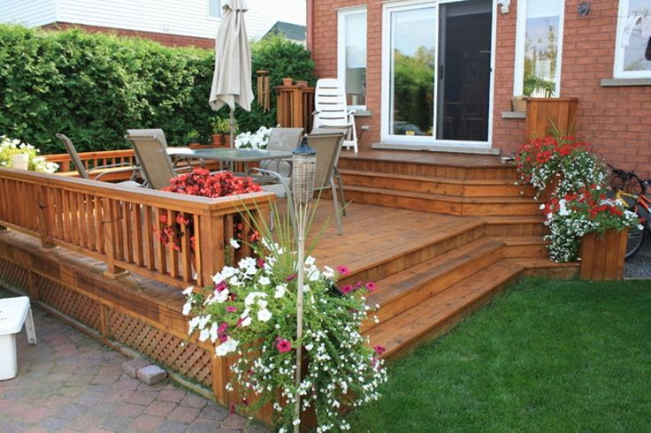 deck and patio ideas for small backyards landscaping