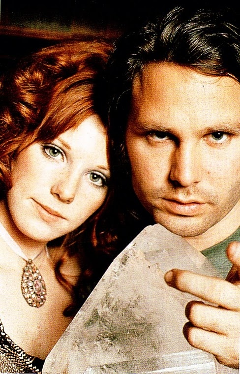 Jim Morrison and Pamela Courson,  this pic reminds me of the incredible song Love Street ..One of my favorites from The Doors :)