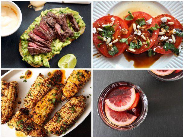 Tomato Salad, Steak & Avocado Sandwiches w/ Spicy Crema, Grilled ...