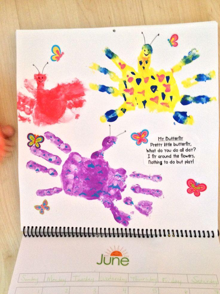 Calendar Handprint Art : Handprint calendar craft ideas pinterest