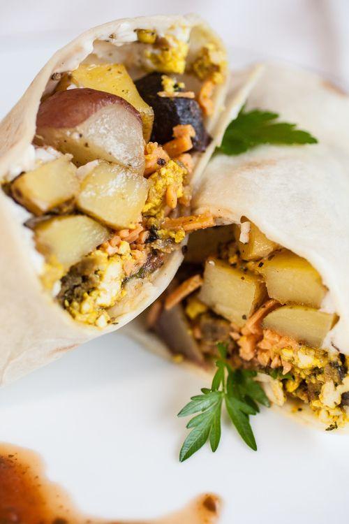 Vegetarian Breakfast Burritos Recipe — Dishmaps