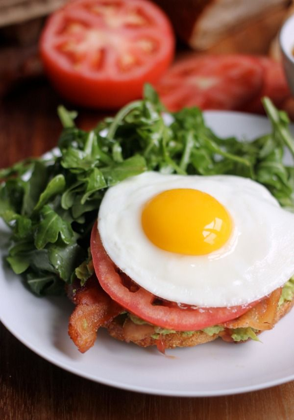 Avocado Toast with Bacon, Tomato, and Fried Egg - Baker Bettie