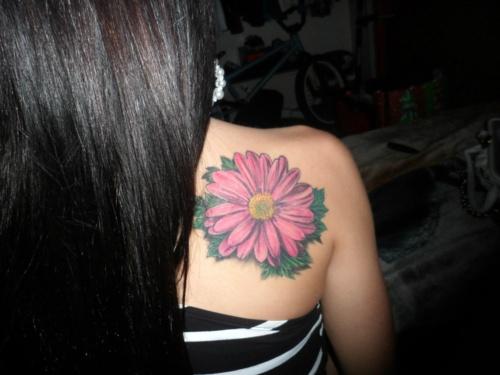 my gerber daisy tattoo tattoos pinterest. Black Bedroom Furniture Sets. Home Design Ideas