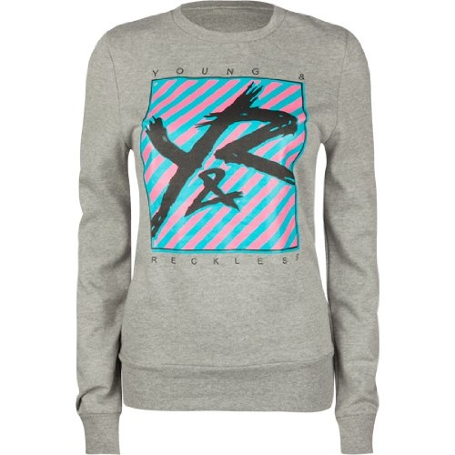 YOUNG & RECKLESS Slanted Line Womens Pullover