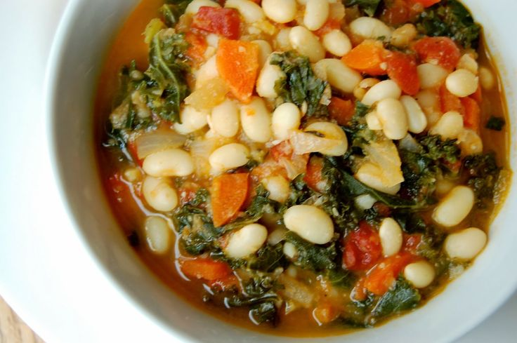Vegetarian White Bean and Kale Soup | Meatless Meals: Dinner | Pinter ...