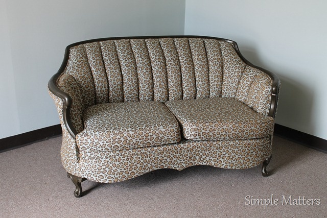 Leopard Print Antique Love Seat Upholstered Sofas And Chairs Pinterest