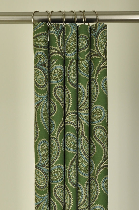 Green paisley shower curtain | For the Home | Pinterest