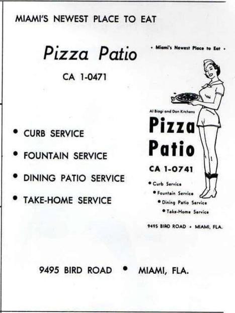 Elegant Pizza Patio Menu. Bird Rd Miami, Fl Nostalgia Pinterest