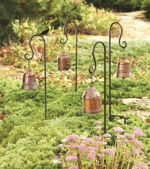Decorative bell garden stakes things i intend to do for Decorative garden stakes