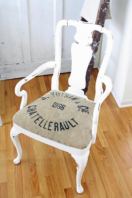 Grain sack chair cushion vintage fun pinterest