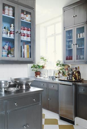 Silver Grey Cabinets For The Home Pinterest