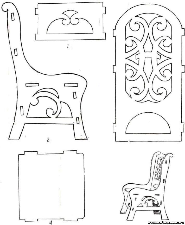 Трафареты мебели своими руками