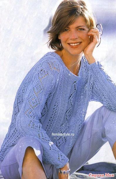 пуловер с ажурными ромбами с доставкой