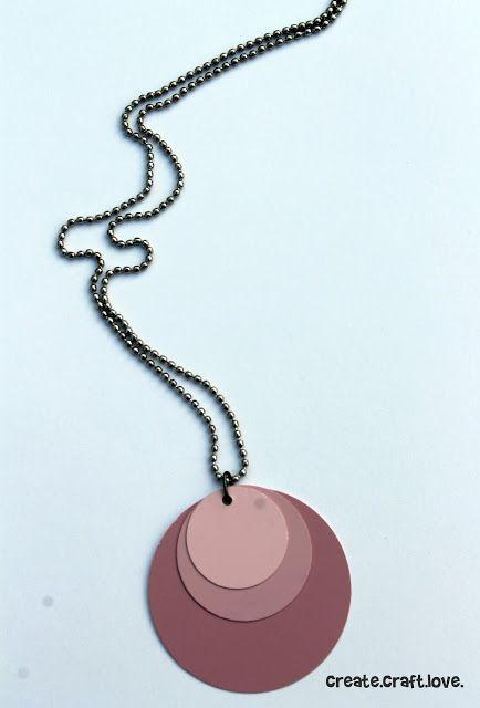 Ombre Paint Chip Necklace via createcraftlove.com #jewelry #paintchips