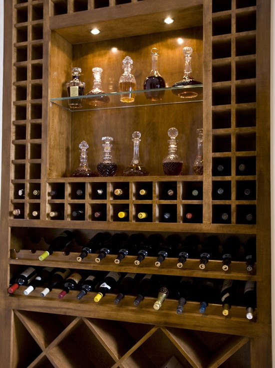 Built in wine bar storage requirement basement pinterest for Built in wine bar ideas