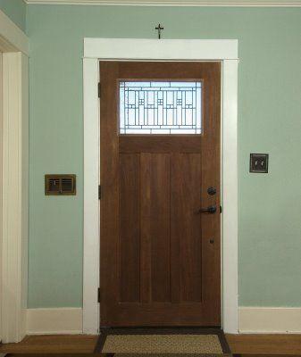 Craftsman style wood door future home pinterest Craftsman style wood interior doors