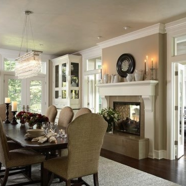 Indoor Outdoor Fireplace For The Home Pinterest