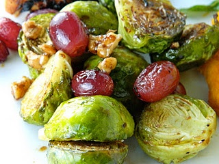 roasted brussel sprouts and grapes! | Food I want to eat | Pinterest