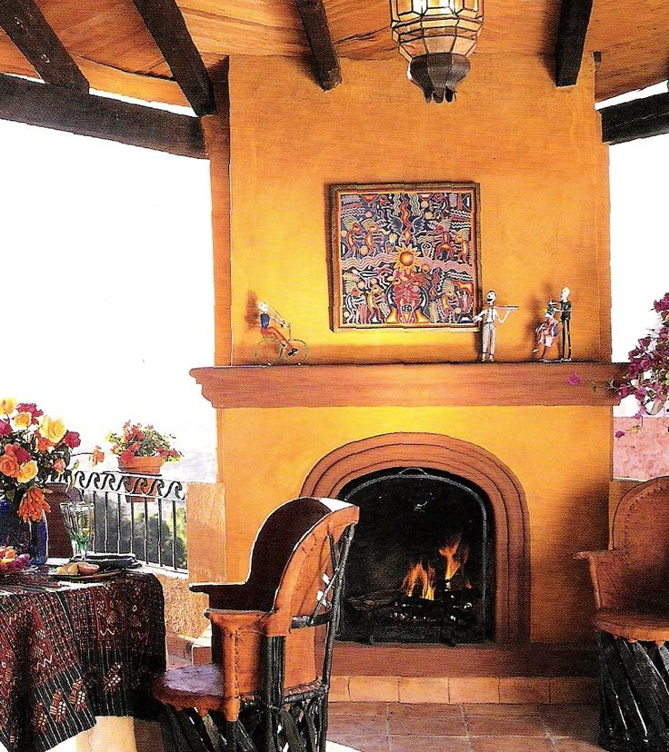 I Love The Rich Colors On This Arched Fireplace Non