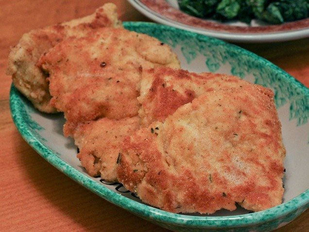 Chicken cutlets with spicy garlic kale | Food | Pinterest