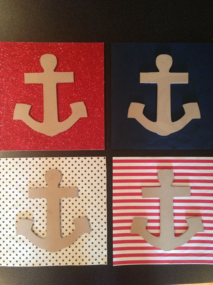 Nautical dorm room themed diy cork board wall decor for Anchor wall decoration