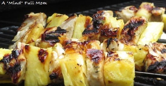Grilled Jerk Chicken Kabobs with Pineapple