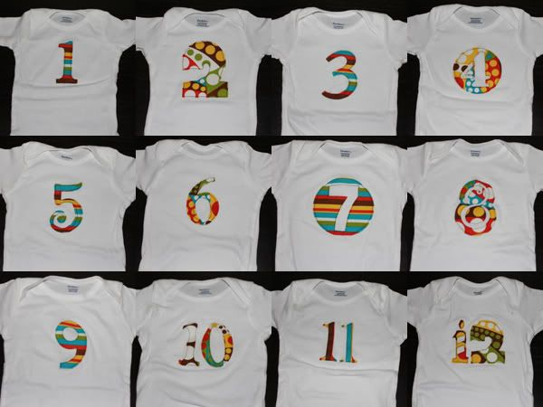 Baby Gift Ideas Using Cricut : Month by onesies pattern tutorial
