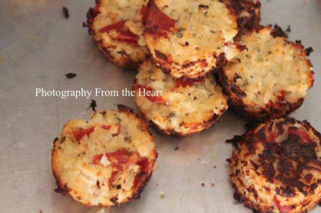 Mini Cauliflower Pizza Bites | Sides, Dips & Sauces | Pinterest