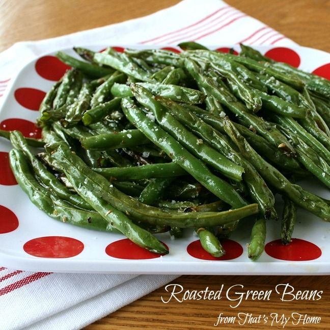 Delicious roasted green beans are simply roasted in salt, pepper and ...