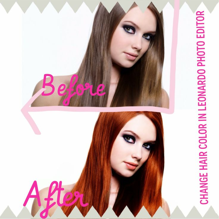 DLOLLEY'SHELP: How to change hair color in Leonardo Photo Editor