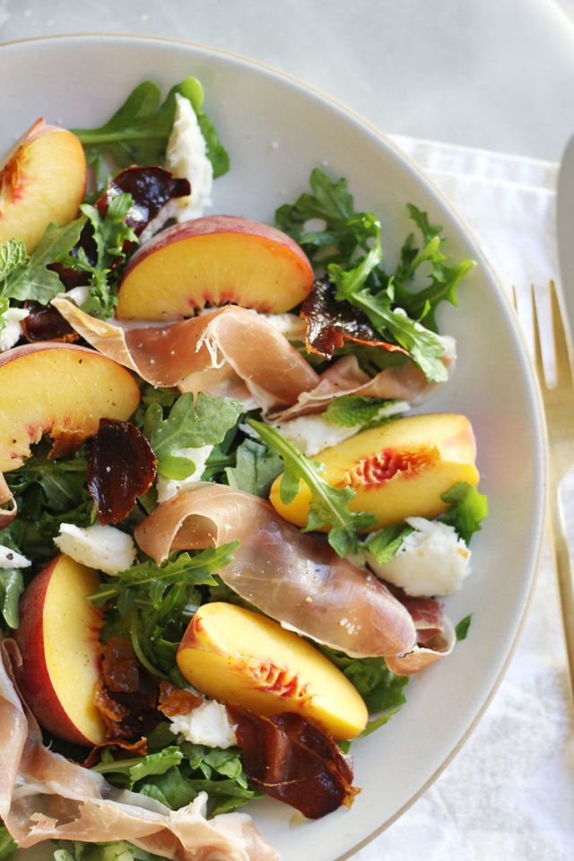 Peach, Mozzarella, And Crispy Prosciutto Salad Recipes ...