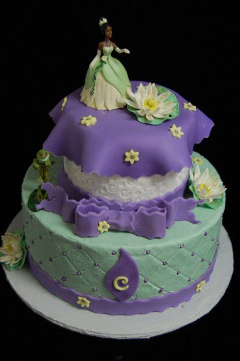Pin Frog Princess Coloring Pages Tiana Cake On Pinterest