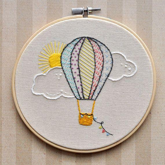 Воздушный шар вышивка фен шуй