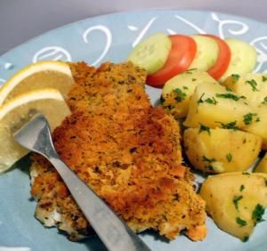 Baked Cod with Crunchy Lemon Herb Topping - BigOven 206560