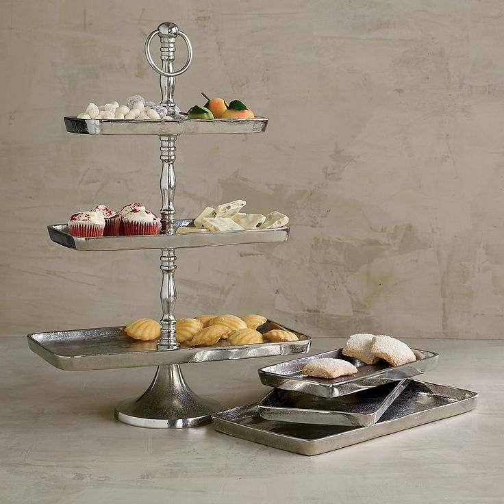 3-Tier Metal Serving Tray   The Company Store