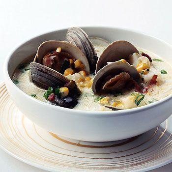 Clam and Corn Chowder Recipe at Epicurious.com