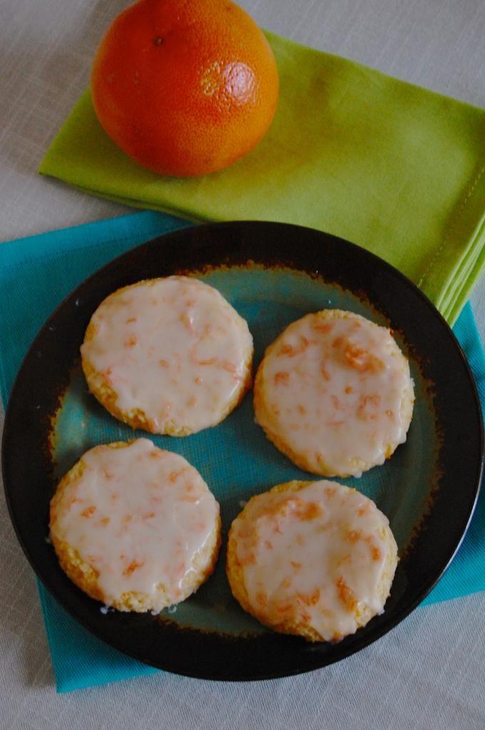 Glazed Pink Grapefruit Cookies | Live Faithfully
