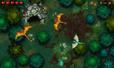 Screenshots of the Dragons' Journey for Android tablet, phone.