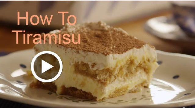 How to Make Tiramisu | The Dessert Cart | Pinterest