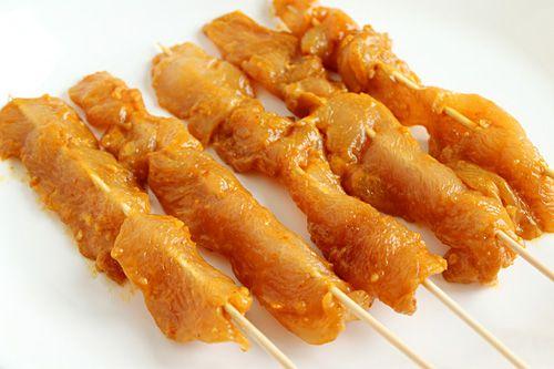 Thai Chicken Sate | Thai Chicken Sate Recipe | Easy Asian Recipes at ...