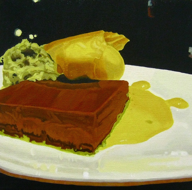 Triple Chocolate Mousse, Pistachio Cake, Pineapple Gel, and ...