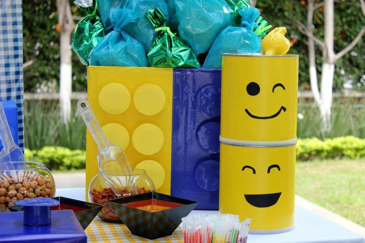 Ideas para tu fiesta de lego fiesta lego pinterest - Vasos para cumpleanos infantiles ...