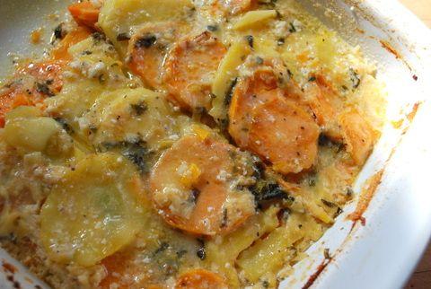 youkon gold sweet potatoe gratin | recipes to try | Pinterest