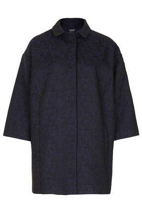 Jacquard Clean Boyfriend Coat - Jackets & Coats  - Clothing