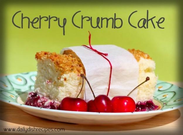 Cherry Crumb Cake..Tart cherries on the bottom, a moist crumb cake in ...